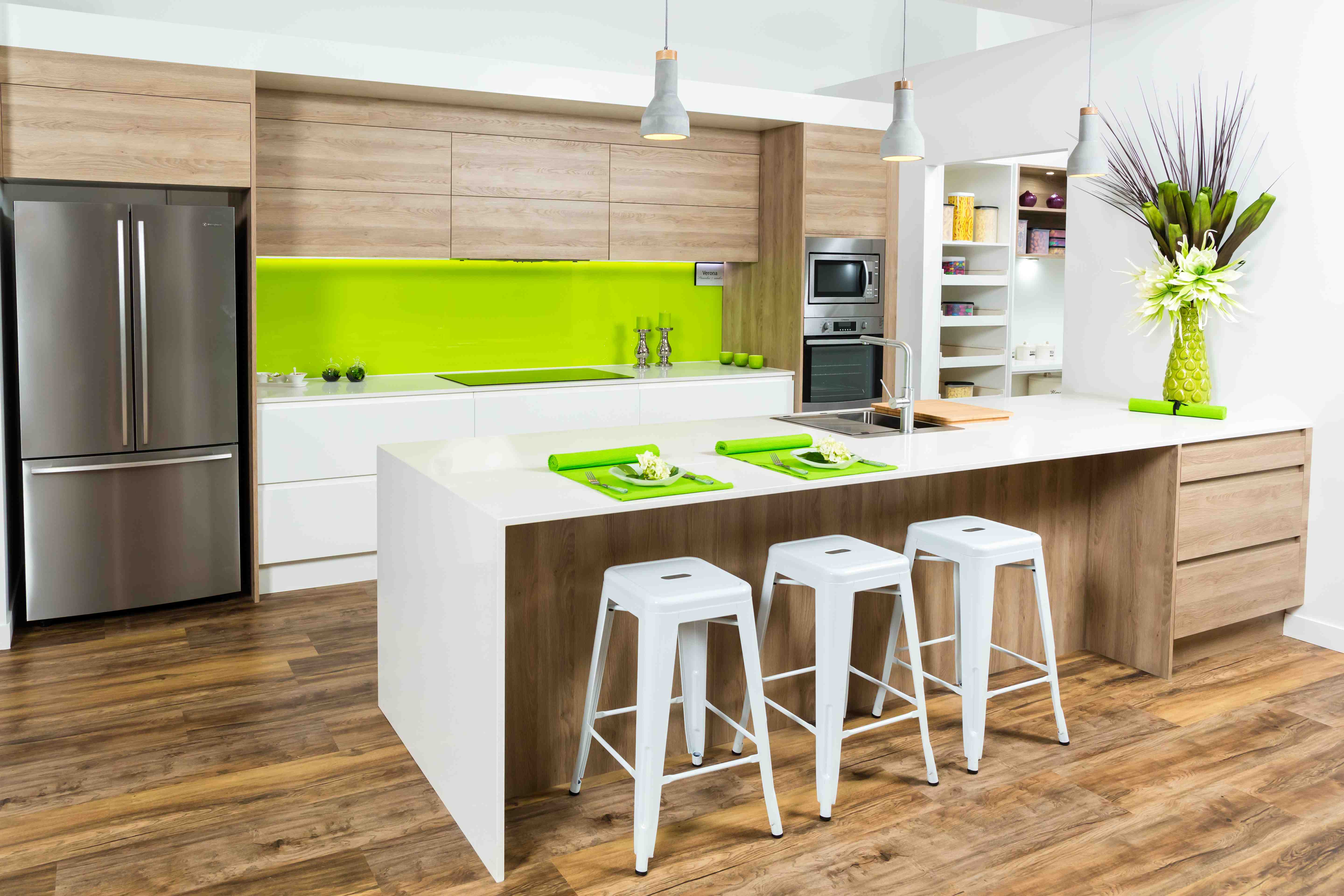 Timber Look Kitchen Cabinets - Kitchen Connection