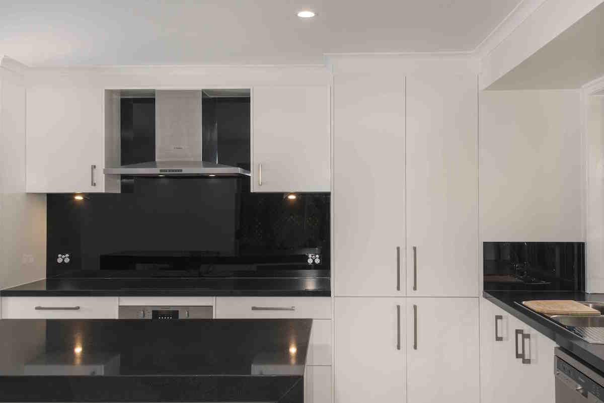 Monochrome Magic Wallspan Kitchens Adelaide