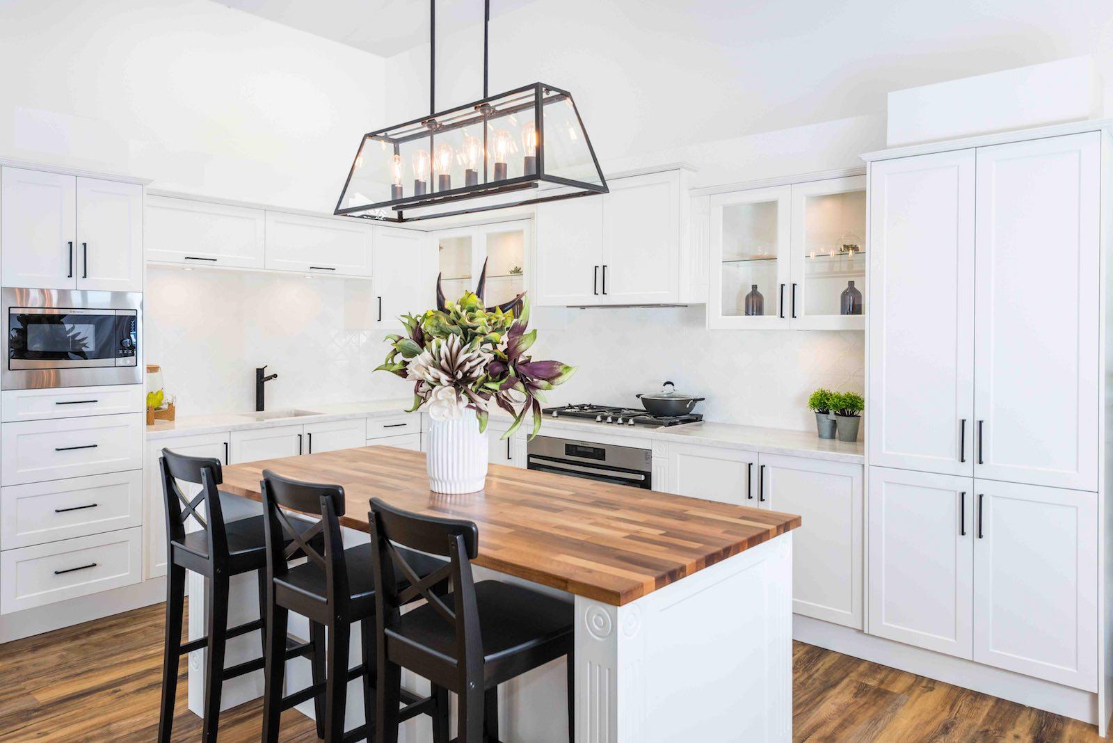 Hamptons Style Kitchen Wallspan Kitchens Adelaide