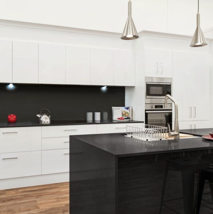 Dark Island Bench Wallspan Kitchens Adelaide